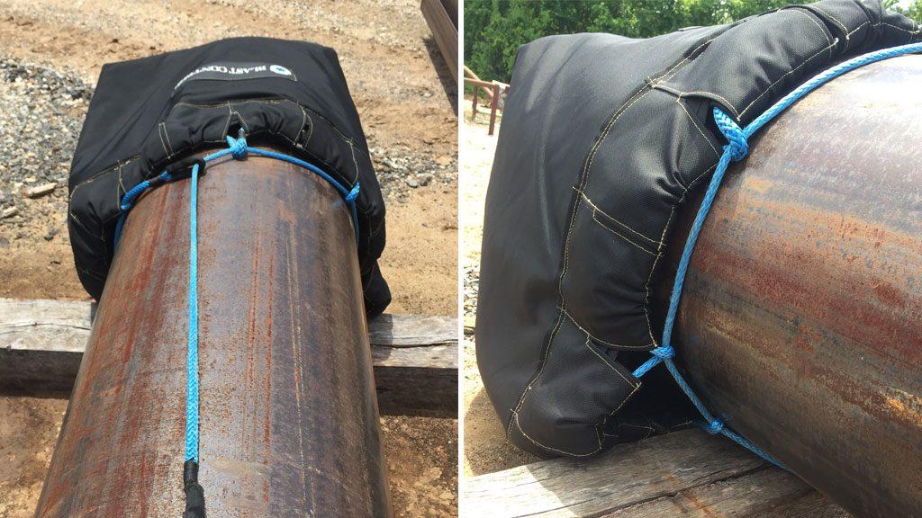 blast control blast blanket wraps end cap barriers