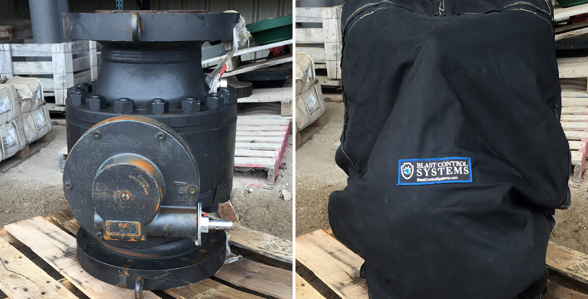 Blast Control blast blanket valve enclosure