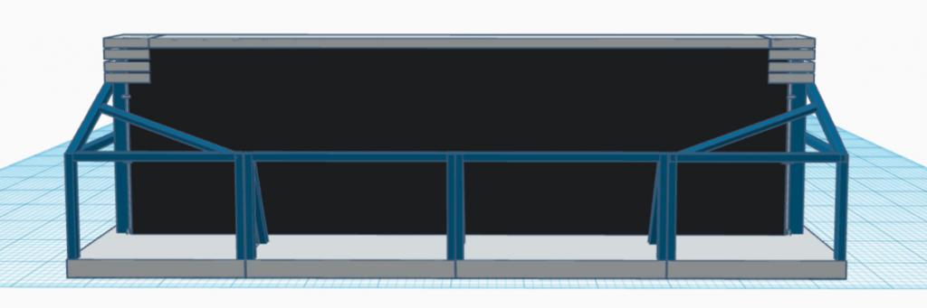 Blast Control DBX Deployable Barrier System 3d model