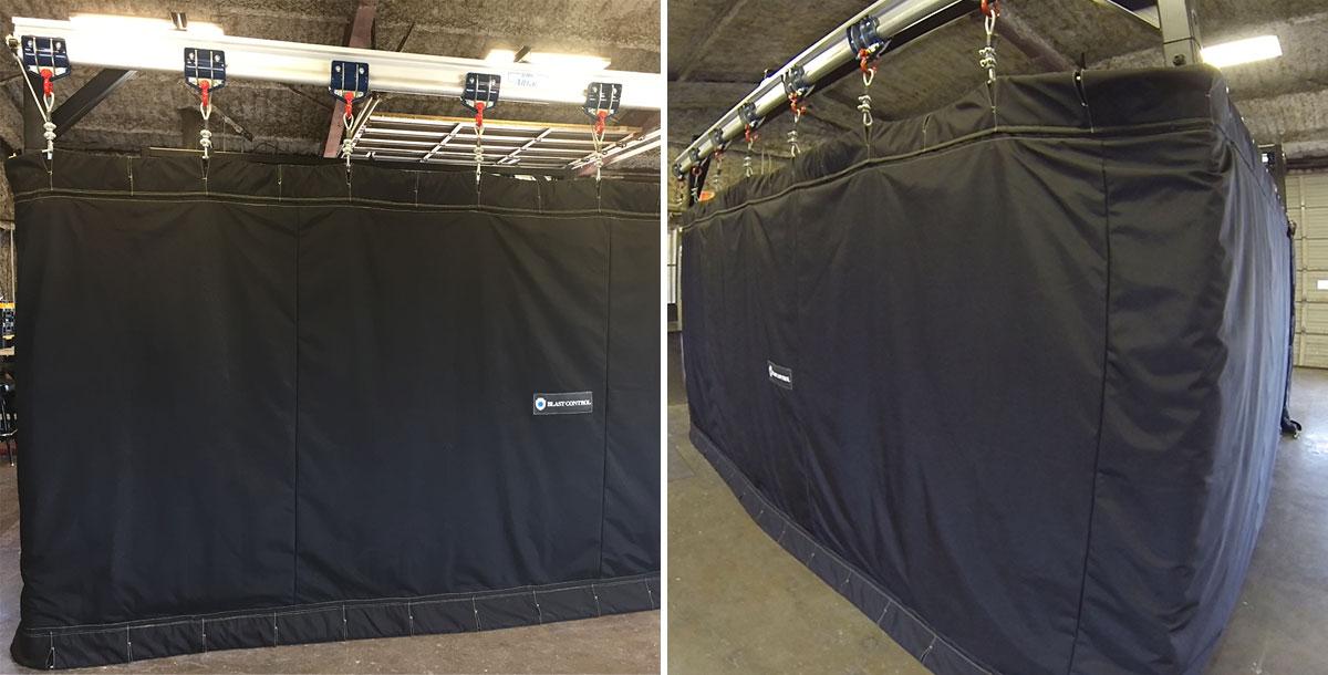 blast control pressure test booths