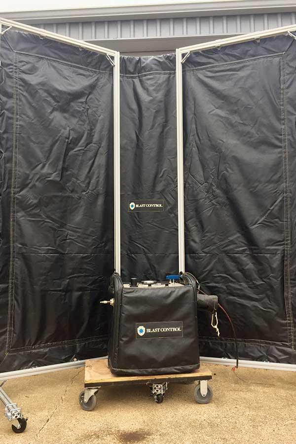 Inside of Pressure Test Mobile Barrier System