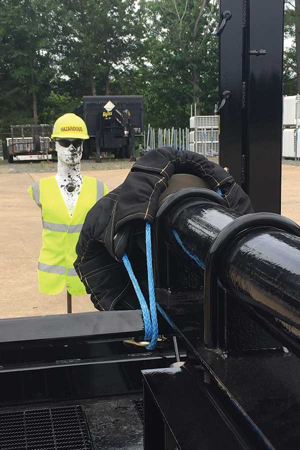 Blast Control End Cap Barrier Test with Mannequin