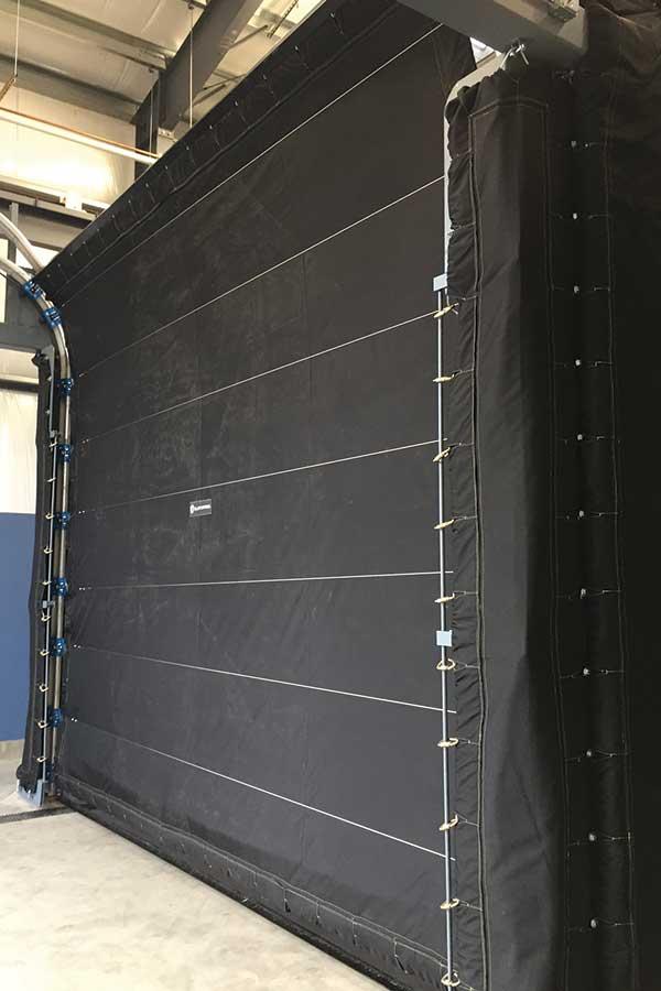 Pressure Test Enclosure Door Closed Along Rail Mounting