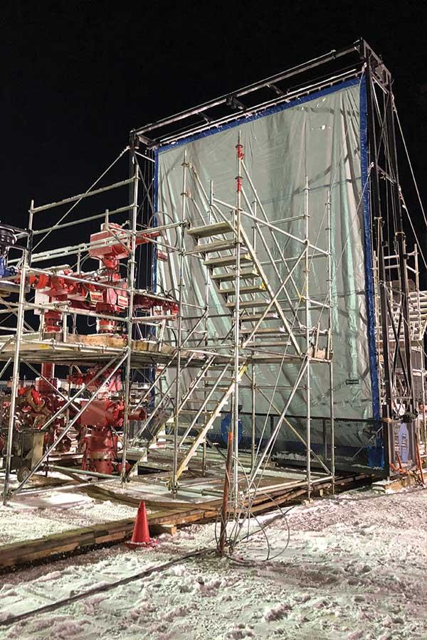 Large Blast Control Curtain Seperating Machinery