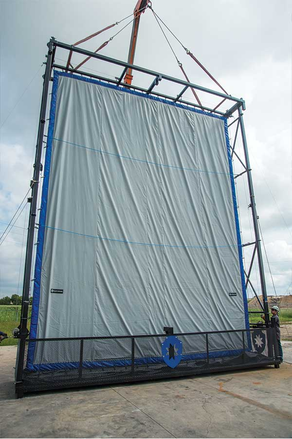 Blast Control Mobile Barrier Moveable By Crane