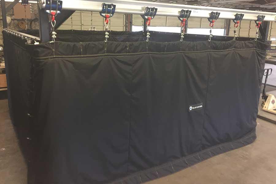 Rail Mounted Blast Curtain