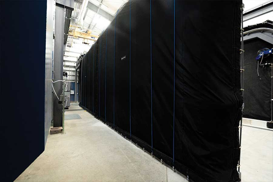 Large Pressure Test Enclosure Booth Indoors